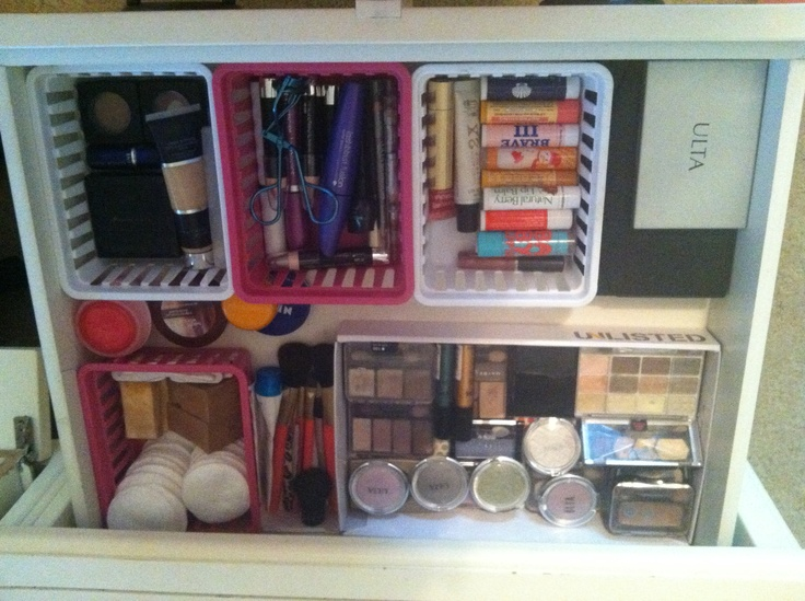 Organized Makeup Drawer. Love this!