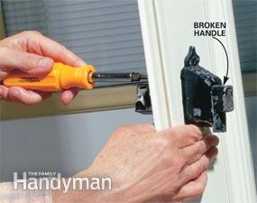 Replace a Broken Storm or Screen Door Handle   The Family Handyman