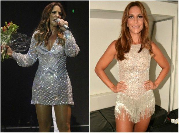 Ivete Sangalo antes e depois de perder três quilos (Foto: Felipe Souto Maior/Brazil News)