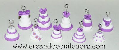 Creandoconilcuore: Mini Wedding Cake Lilla
