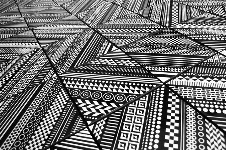 Core Deco Ceramic Tiles by MWM Graphics | Black and White Geometric Patterns