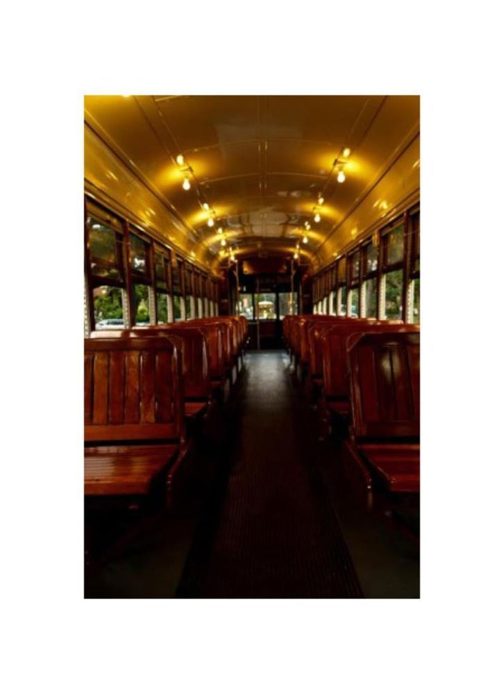 new orleansstreetcar interior the streetcars in new orleans are a favorite of locals and. Black Bedroom Furniture Sets. Home Design Ideas