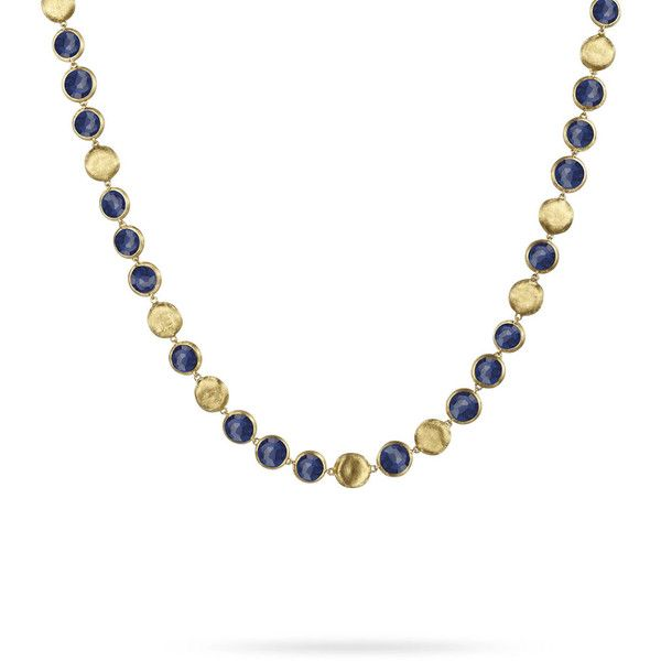 Marco Bicego Jaipur 18K Gold Lapis Lazuli Collar Necklace (339.035 RUB) ❤ liked on Polyvore featuring jewelry, necklaces, yellow gold necklace, 18k gold jewelry, pink gold necklace, 18k yellow gold necklace and indian gold jewelry