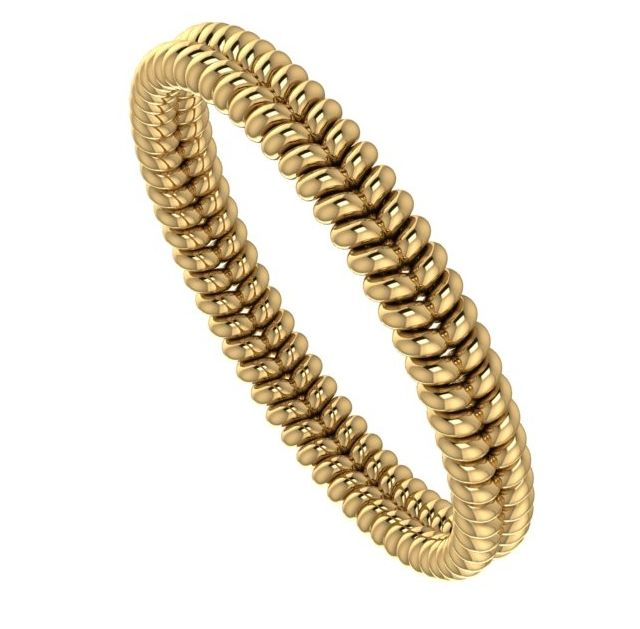 Yellow gold twisted wedding ring, each is made to order, click for more info. #unusual #wedding #rings #band #modern #contemporary
