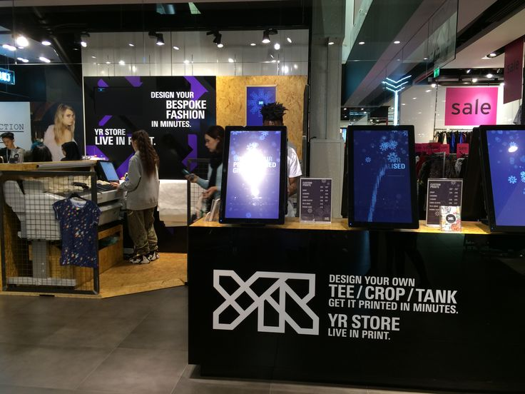 'YR store' located in TopShop at Oxford circus and they offer service which design your own garments on digital device. When I tried it, It was amazing and there are a verity of tools you can use.