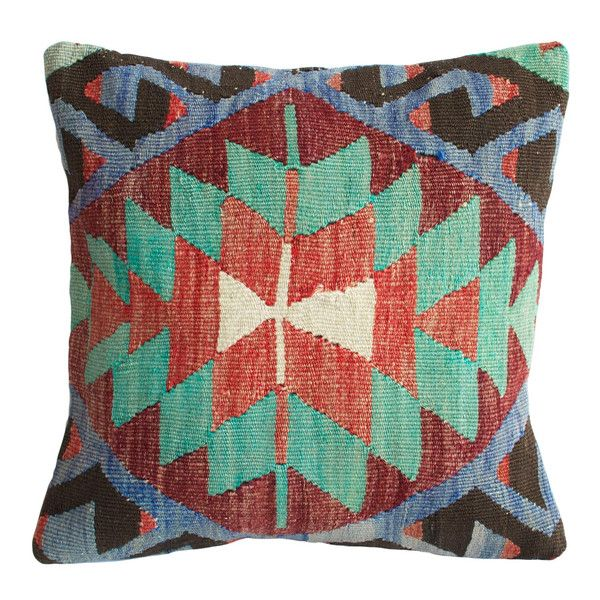 Blue Aztec II Kilim Pillow