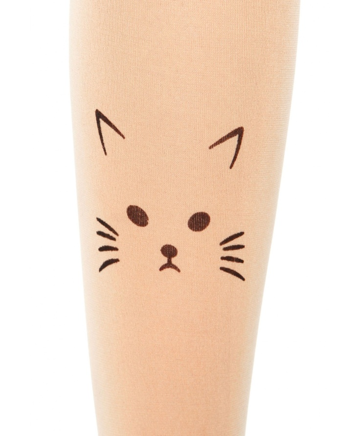 Olba Cat Face Nude Tights