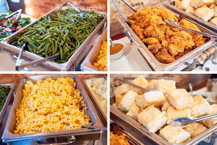 string beans, fried chicken, macaroni and cheese, yeast biscuits, southern food, wedding buffet, catering ideas :: Nicole + Cameron's Wedding at Smithonia Farm in Colbert, GA :: with Nikki