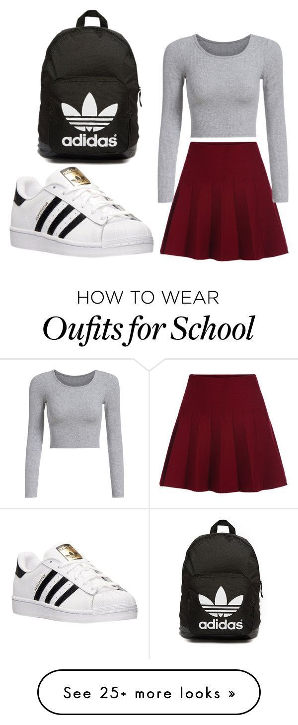street style by marion-randrianarisoa on Polyvore featuring Topshop* adidas and Victorias Secret