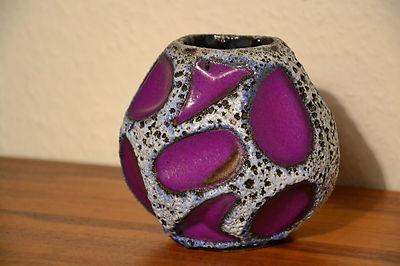 Roth Keramik vase
