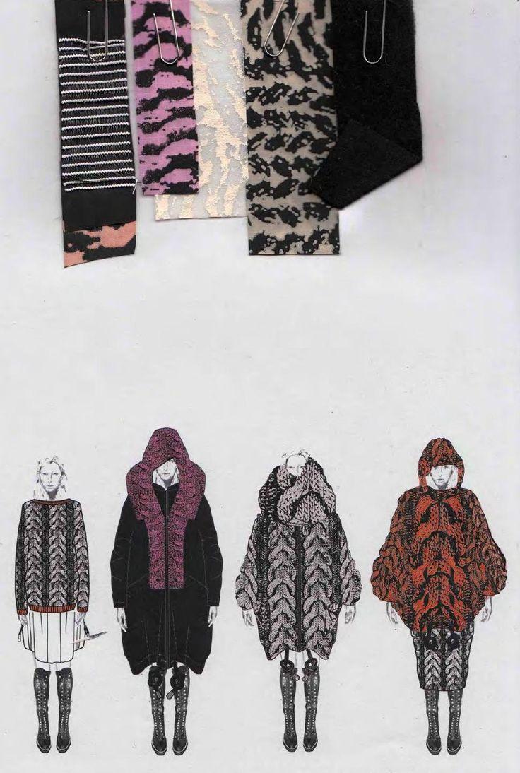 Fashion Sketchbook - knitwear design development, fashion drawings & textiles // Philli Wood