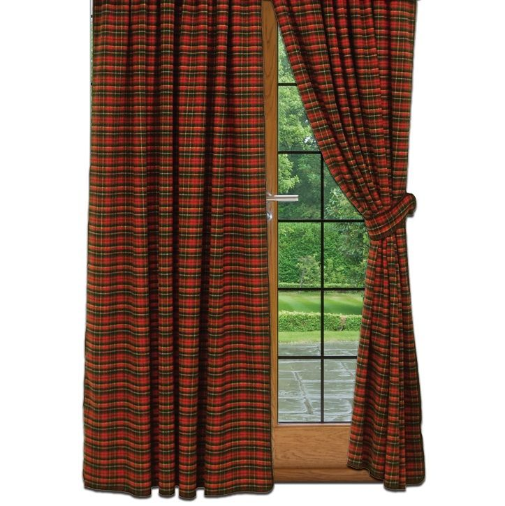 Wooded River Plaid 1 Rod Pocket Custom Drapery  CABIN CHALET DECOR