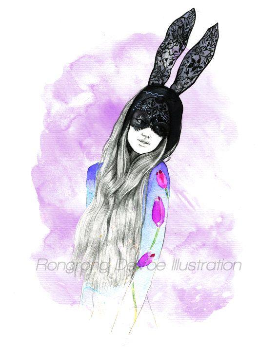 Fashion illustration  Fashion Wall art  by RongrongIllustration