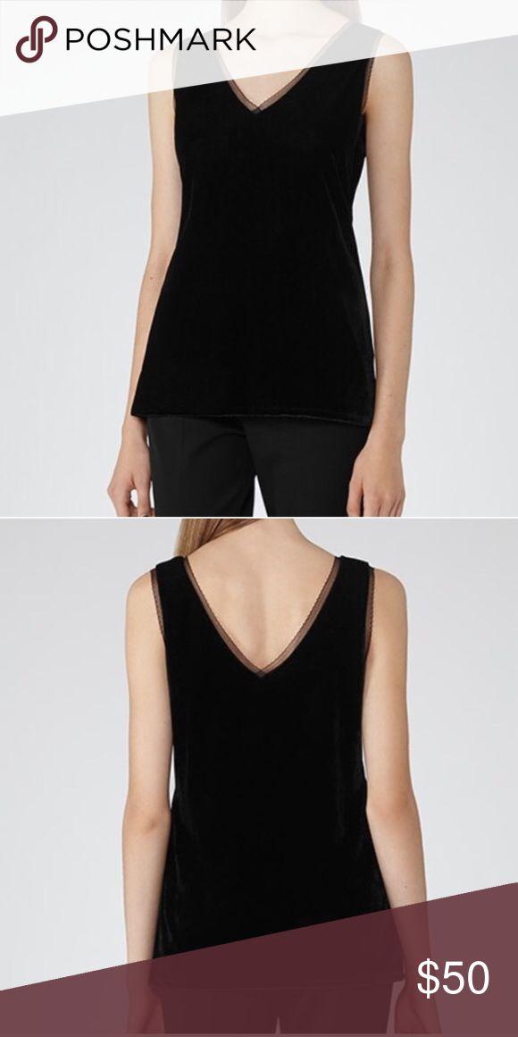Reiss Onari Velvet Top w/lace detail NWT Reiss Tops