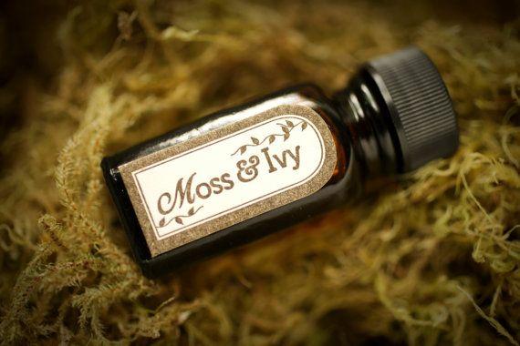 De la mousse et Ivy™ - huile de parfum naturel avec la mousse de chêne, basilic, herbes fraîches, lavande, feuilles, bois, printemps forêt…