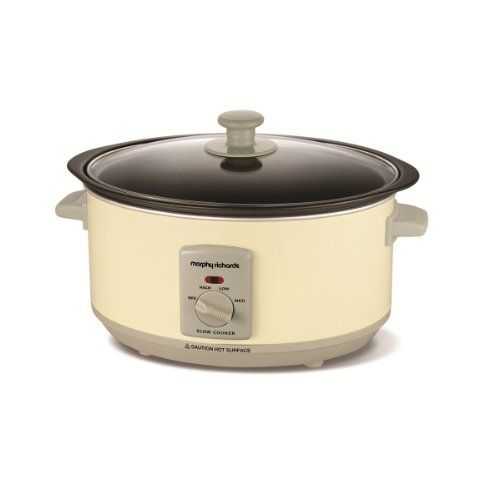 Morphy Richards Slow Cooker 460002 Creme, 3,5l mit Schmorfunktion