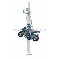 Χειροποίητη Πασχαλινή Λαμπάδα Αγωνιστική Μηχανή moto