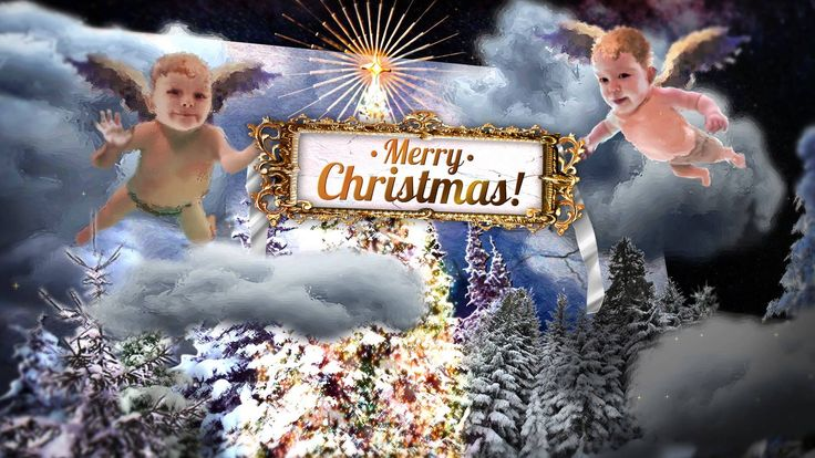 Christmas Angels pop up Card (After Effects template project)