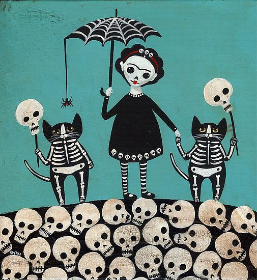 Día de muertos y calaberitas :3 By:Monse