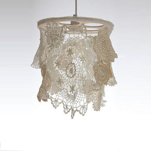 Best 25 doily lamp ideas on pinterest making decoupage for Doily light fixture