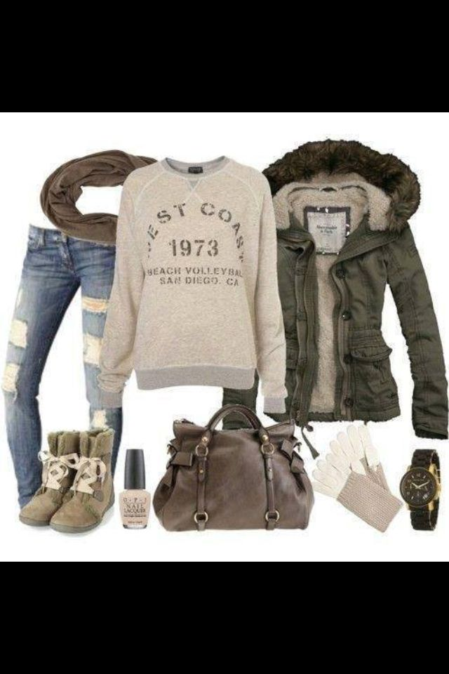 Comfy, warm, cute outfit! Down to earth outfit!!! ❤❤