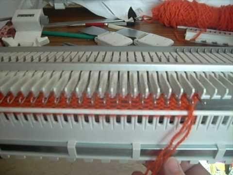 utilisation de machine à tricoter grosse laine singer (ou bigphil maxima...