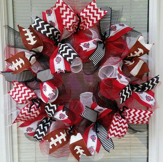Ohio State Wreath Buckeyes Wreath Football by WreathsByRobyn