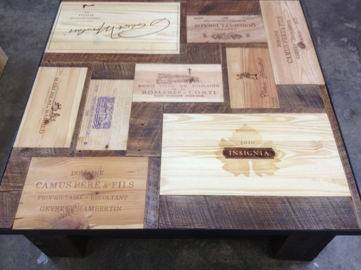 25 best wine box accent wall images on pinterest wine for Coffee table made out of wine crates