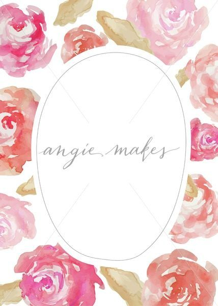 5x7 watercolor roses invitation  blank invitation