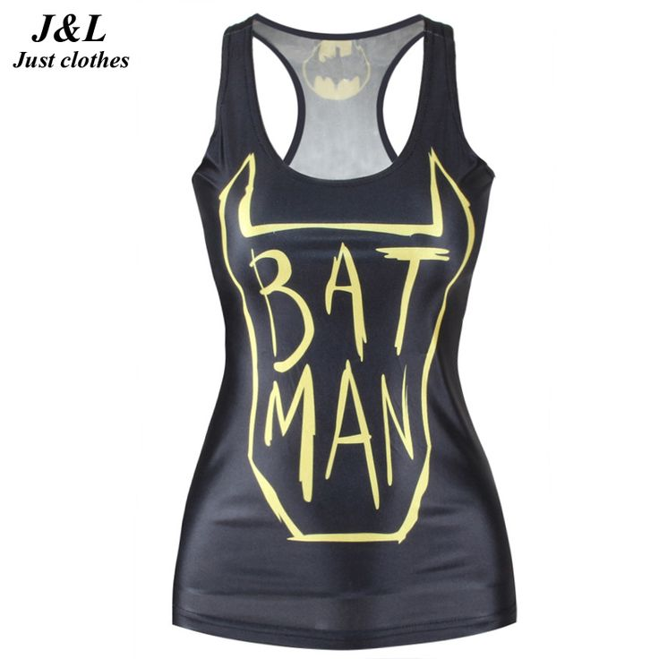 [$7.86] 3D Print Singlet Vests For Women Sporting Top Fitness Tank Top Fashion Female Aliens Printing A Tight Black Round Neck Vest