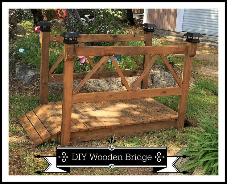 @brookeconiam  would look cool over the drainage area on the way to the dock!!    DIY+Wood+Garden+Bridge