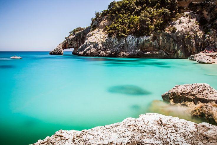 Włochy, Wyspa, Sardynia, Zatoka, Plaża, Cala, Goloritze, Klif