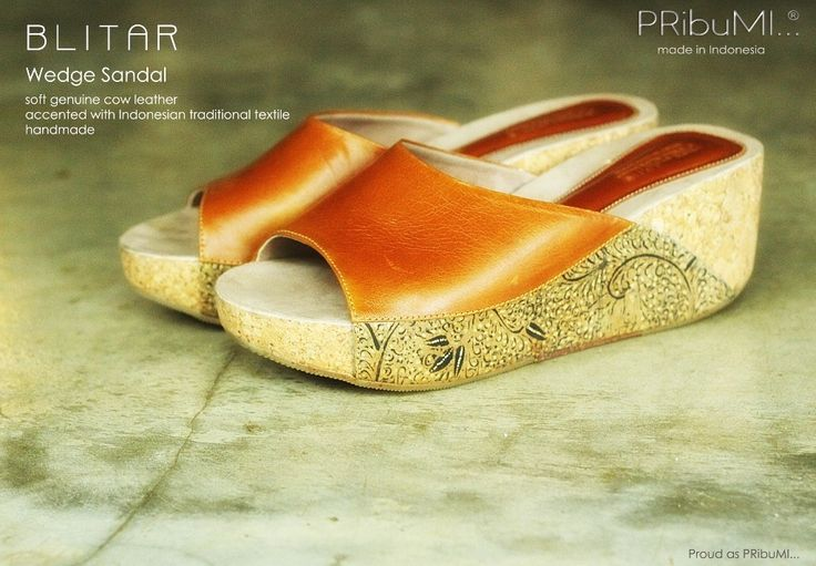 BLITAR Wedge Sandal — For more information or inquiry, please contact via :  WA : 082213355211 LINE : pribumi_id PIN BB : D0C84E0A Email : order@pribumi.co.id www.pribumi.co.id
