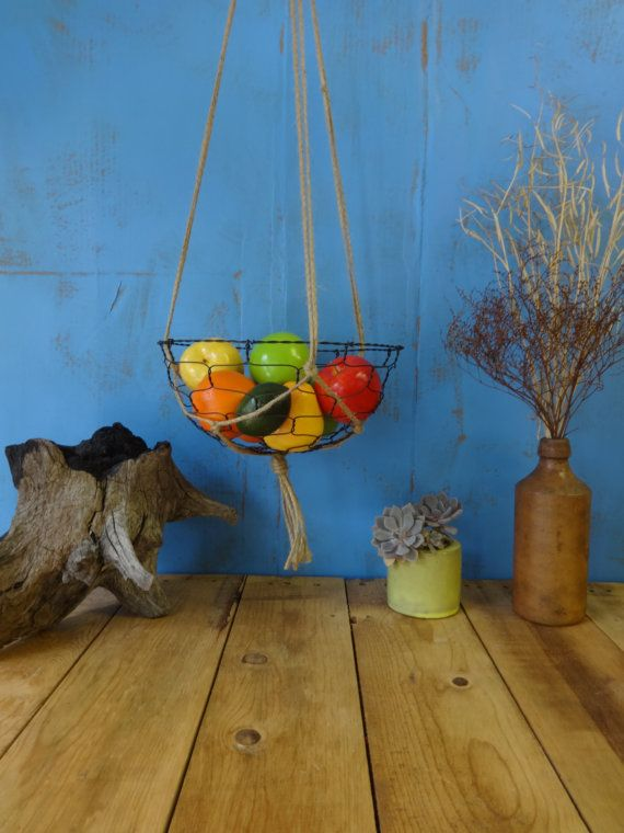 Handmade Hanging Fruit Basket : Best hanging wire basket ideas on