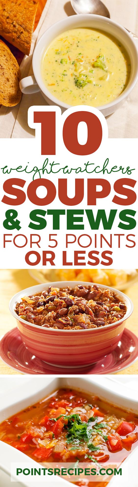 10 Satisfying Soups & Stews for 5 Weight Watchers SmartPoints or Less