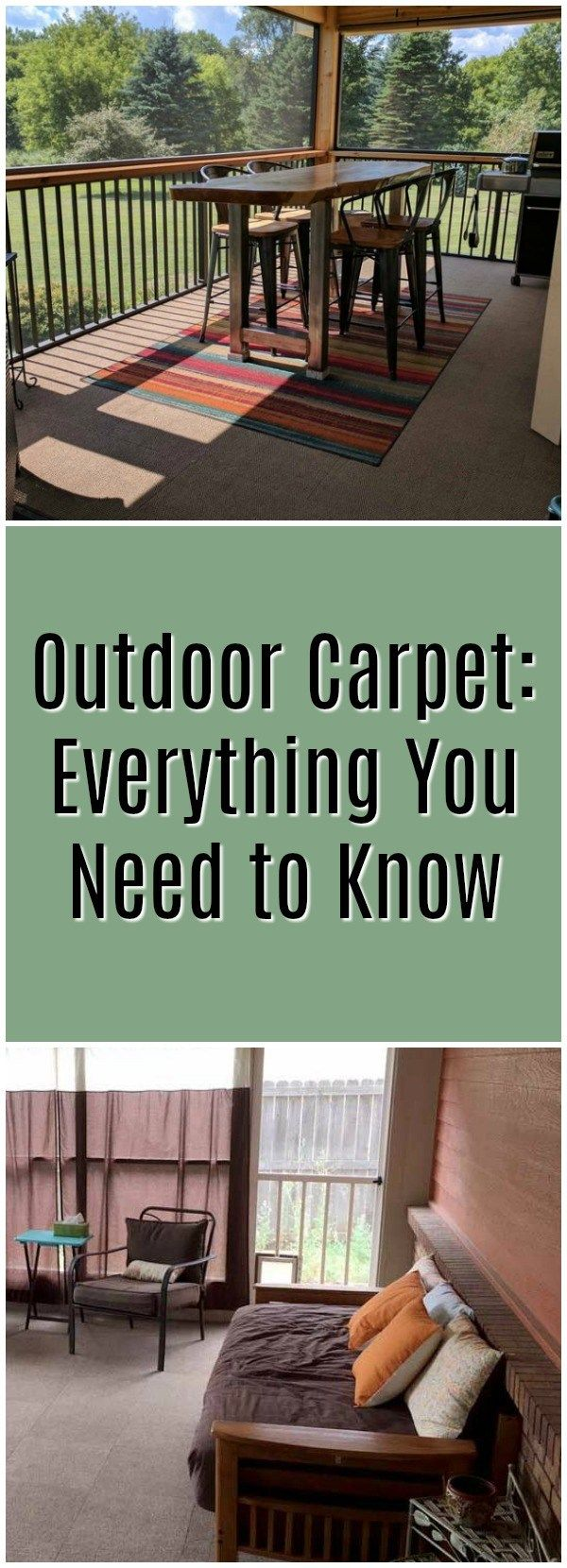 Who wants outdoor carpet? Basically no one, right? Wrong. Outdoor carpet is the latest evolution of carpet technology. It's weather resistant, mildew and mold resistant, and water resistant. There's now no reason to NOT have carpet in your outdoor oasis. https://www.flooringinc.com/blog/outdoor-carpet-everything-you-need-to-know/