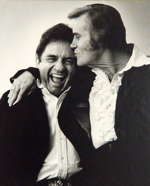 Johnny Cash and George Jones - I sure do miss these legends.