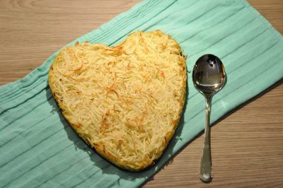Rösti uit de oven; ook voor een romantische avond