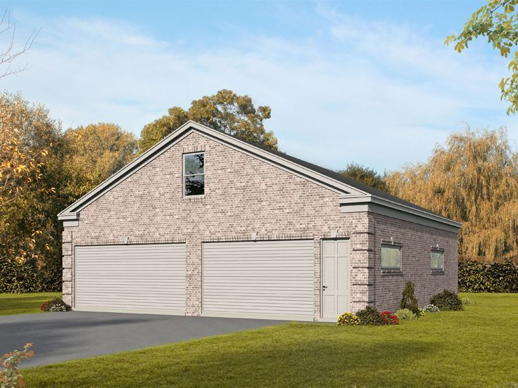 062G-0128: Tandem Garage Plan Offers 2 Bays Suitable for Boat Storage; 1780 sf