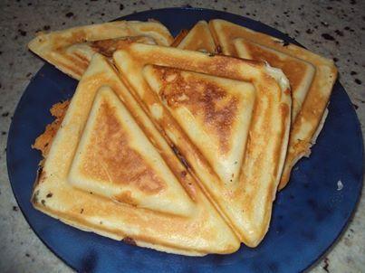 Receita de Receita de Crepe sui�o de sanduicheira facil