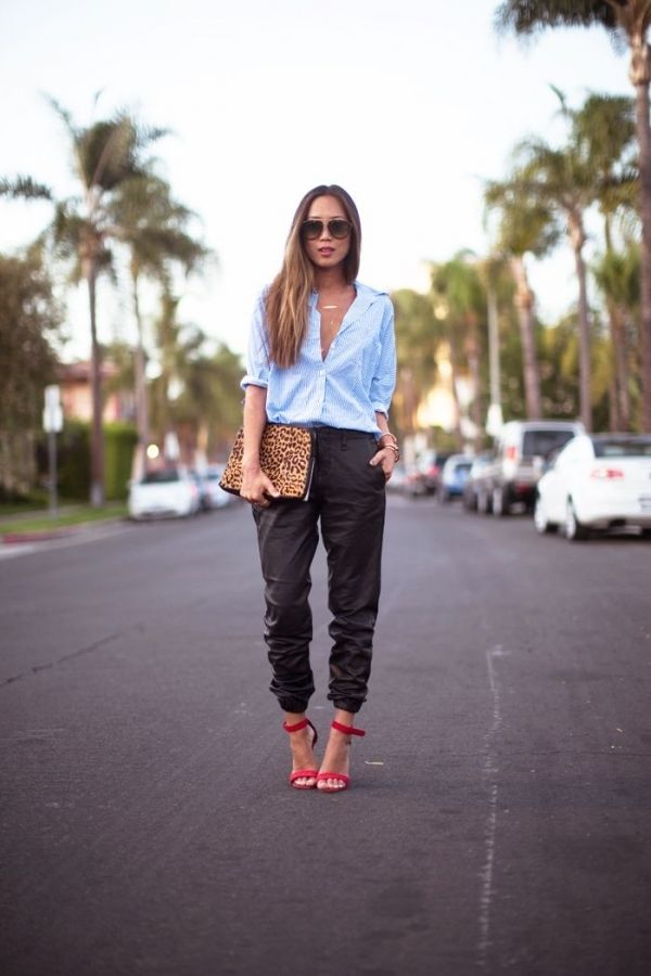 7 Street Style Ways to Rock The Jogger Pants Trend ... | All Women Stalk