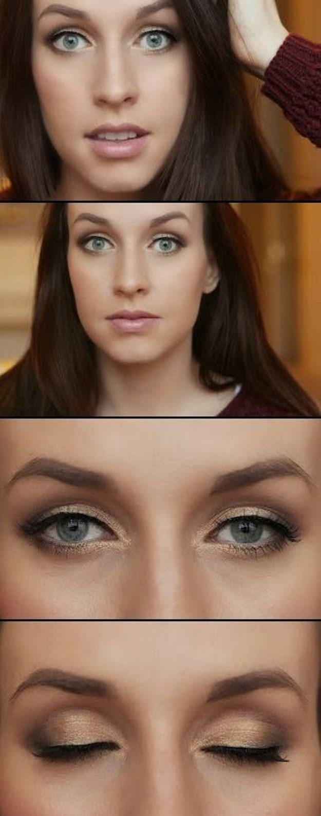 How to Apply Natural Eye Makeup for Work | Makeup for Blue Eyes by Makeup Tutorials at | Makeup Tutorials http://makeuptutorials.com/10-minute-makeup-tutorials-for-work