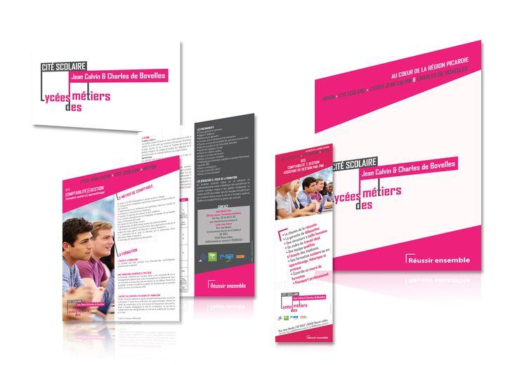 Identité visuelle & supports de communication (plaquette, affiche, totem, fiche…) //Lycées