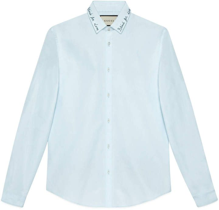 Embroidered cotton Duke shirt  #Gucci #shirt #ShopStyle #MyShopStyle click link to see more of shirt collection