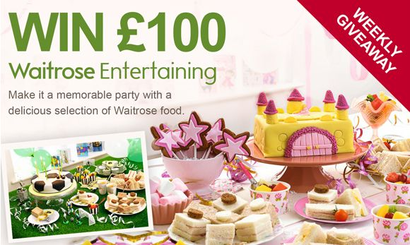 £100 waitrose entertaining vouchers to be won each week - all you have to do is place an order with us at www.partypieces.co.uk. Competition closes 26th September 2013. #competition