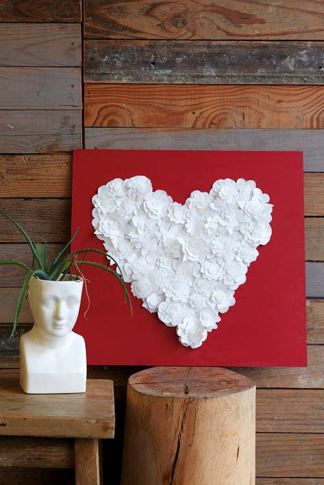 Reuse old milk bottles - Heart decoration