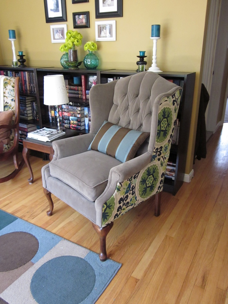 24 Best Chair Reupholstering Images on Pinterest Armchairs Wing