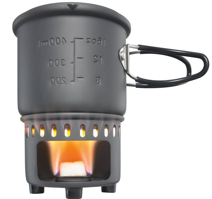 Amazon.com : Esbit CS585HA 3-Piece Lightweight Camping Cook Set for Use with Solid Fuel Tablets : Camping Stoves : Sports & Outdoors