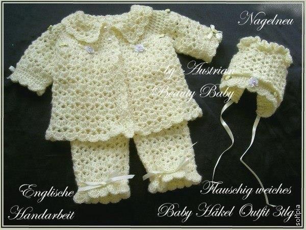 Крючком костюм для новорожденного