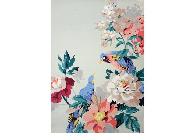 Bird & Floral Wallpaper Study | Cynthia Belliveau